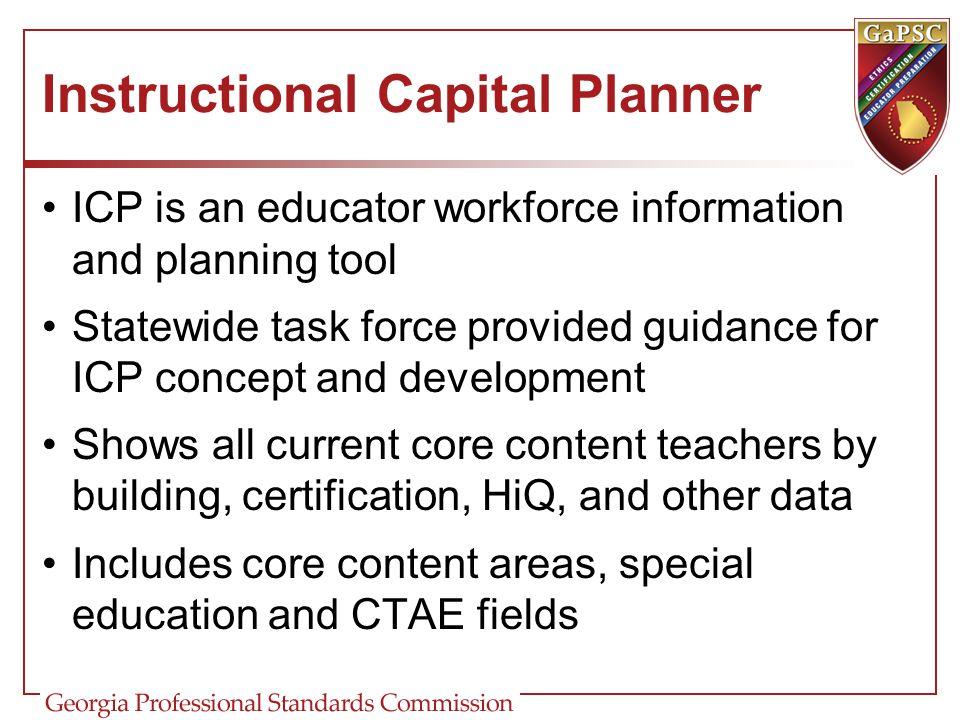 Instructional Capital Planner