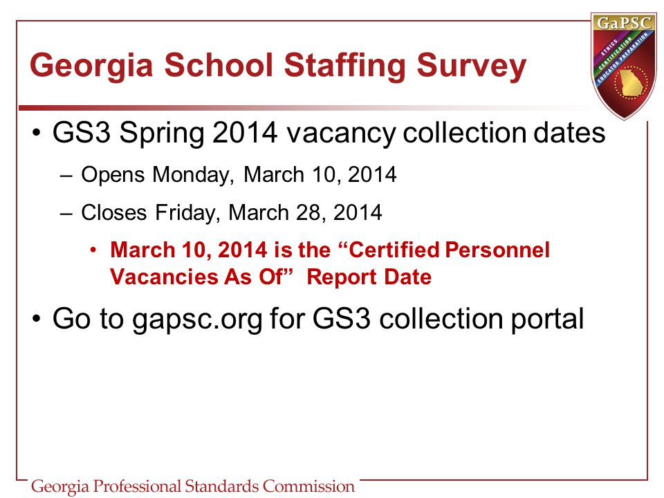Georgia School Staffing Survey