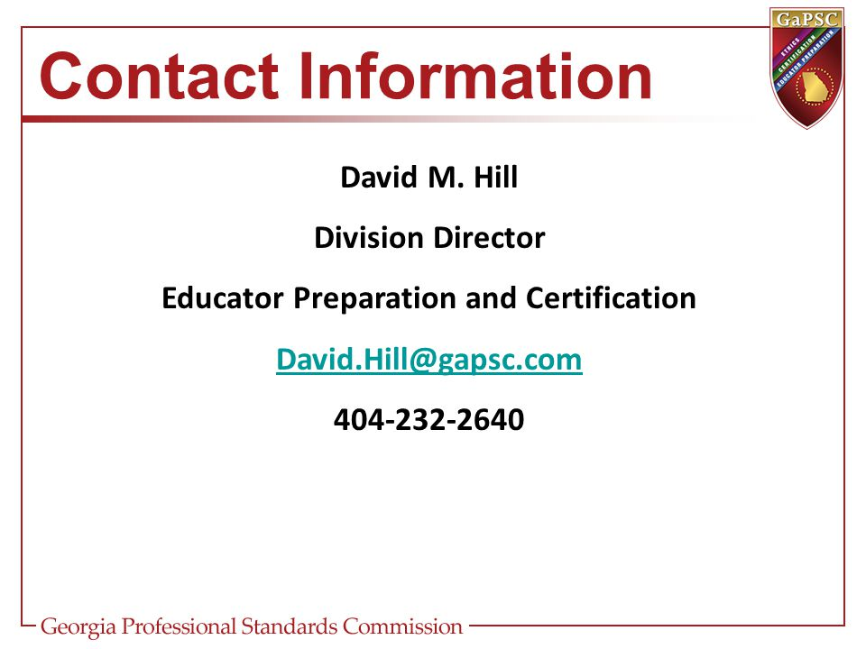 Educator Preparation and Certification