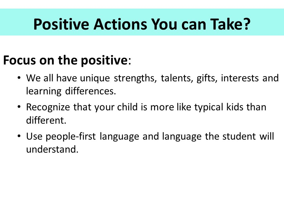 Positive Actions You can Take