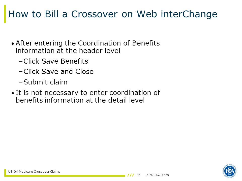 How to Bill a Crossover on Web interChange