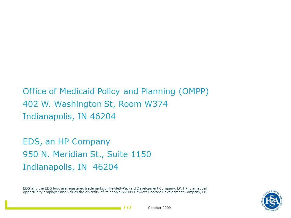 Office of Medicaid Policy and Planning (OMPP)