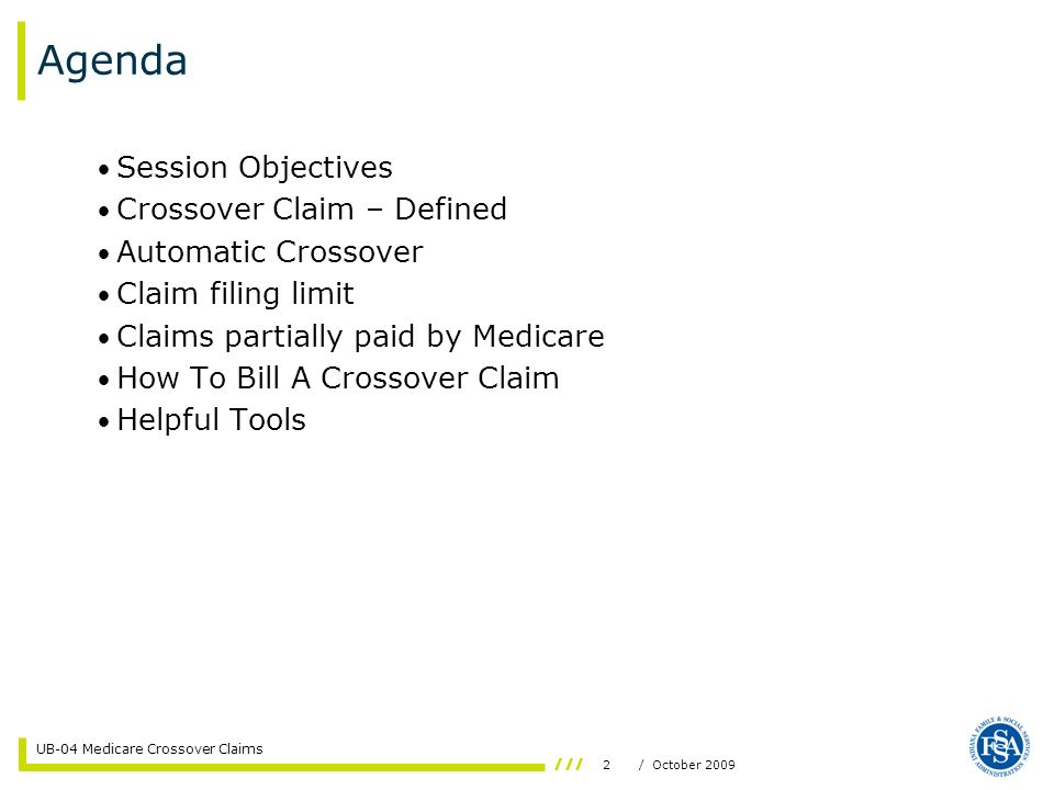 Agenda Session Objectives Crossover Claim – Defined