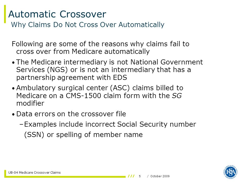 Automatic Crossover Why Claims Do Not Cross Over Automatically