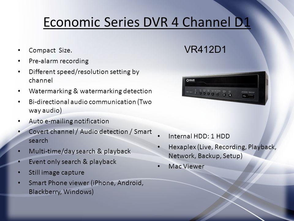 Economic Series DVR 4 Channel D1