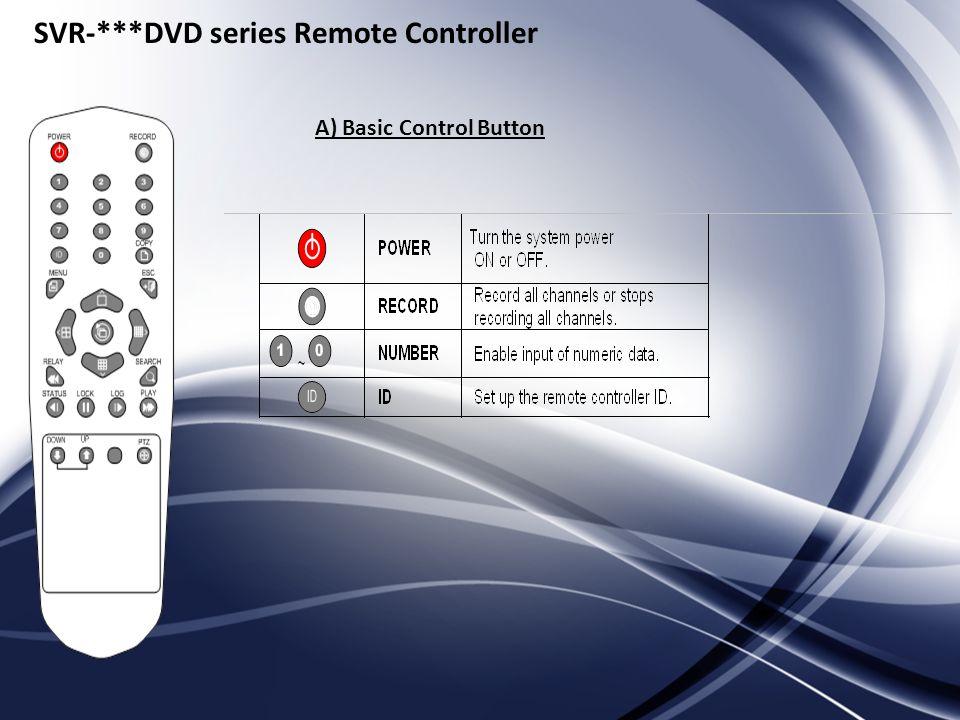 SVR-***DVD series Remote Controller