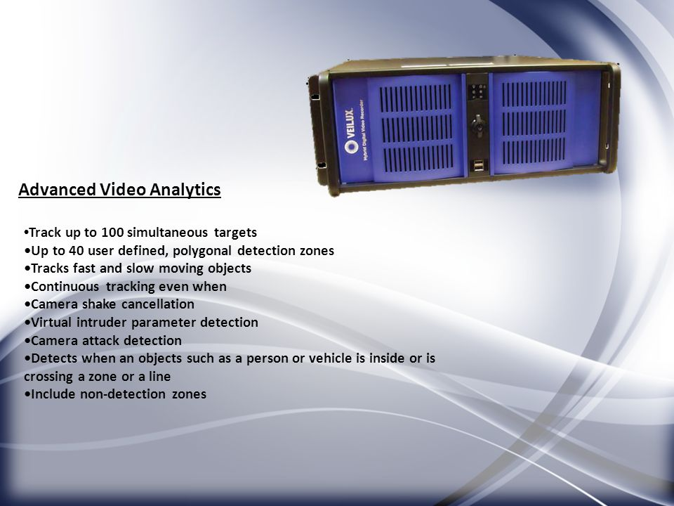 Advanced Video Analytics
