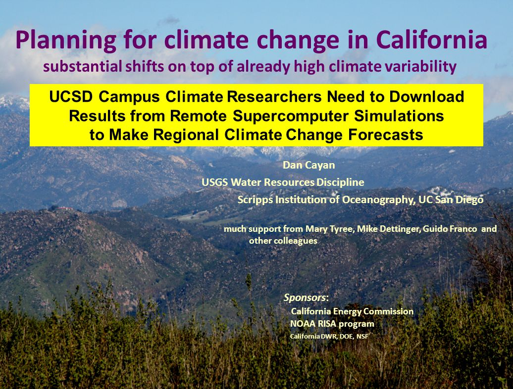 Planning for climate change in California