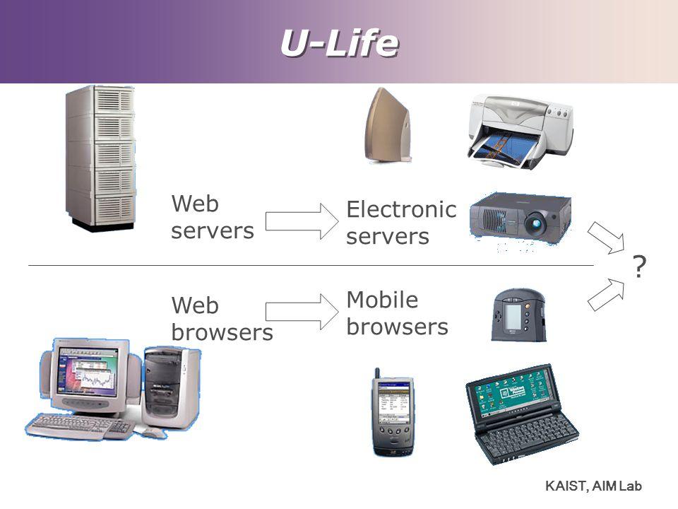 U-Life Web Electronic servers servers Mobile Web browsers browsers