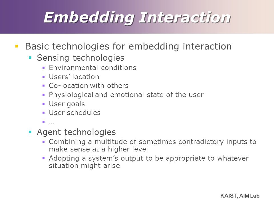 Embedding Interaction