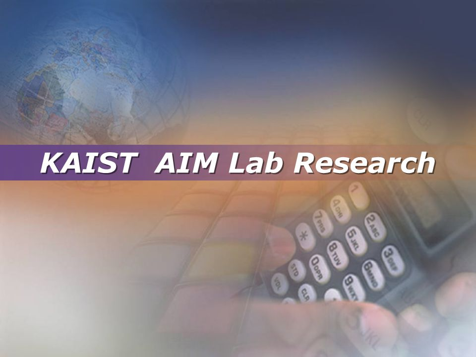 KAIST AIM Lab Research