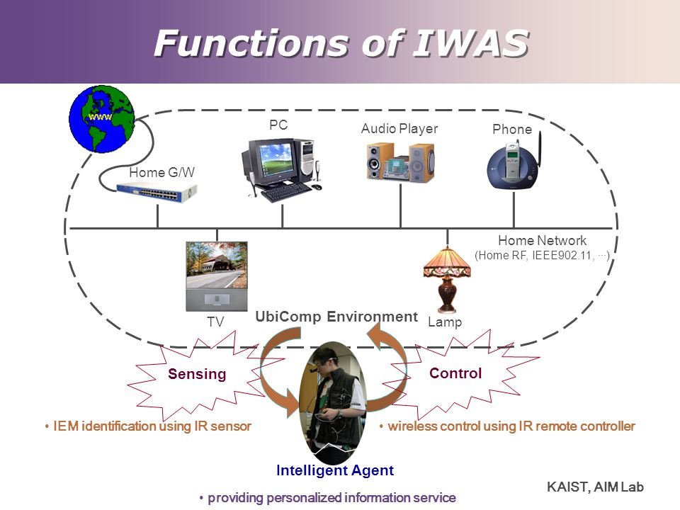 Functions of IWAS UbiComp Environment Sensing Control