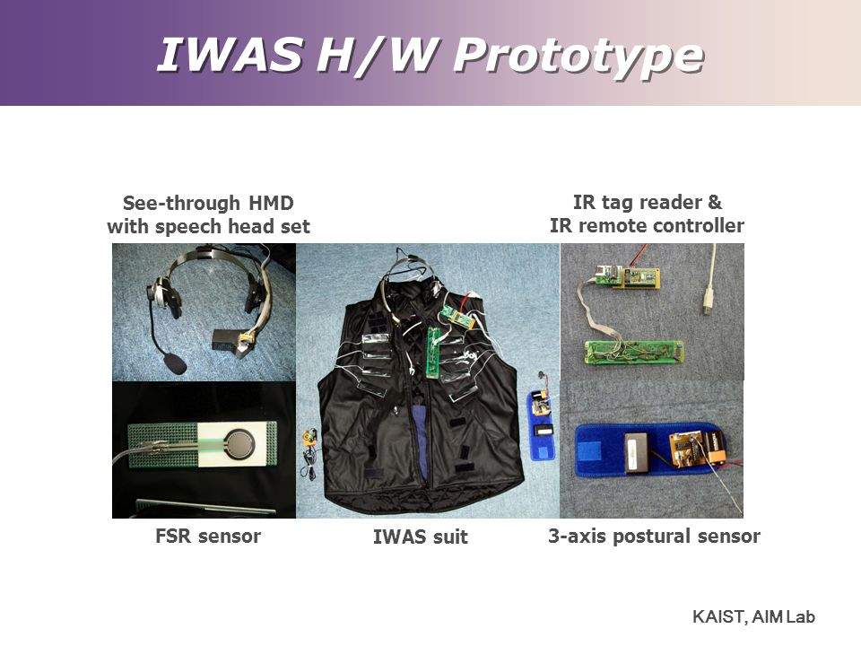 IWAS H/W Prototype See-through HMD IR tag reader &