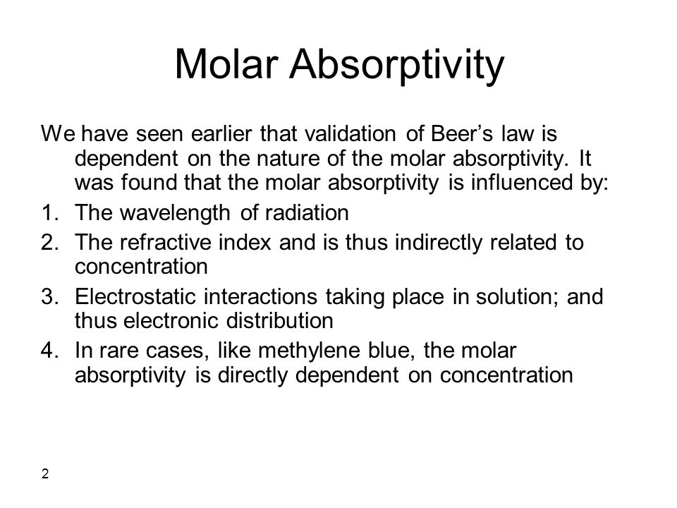 Molar Absorptivity