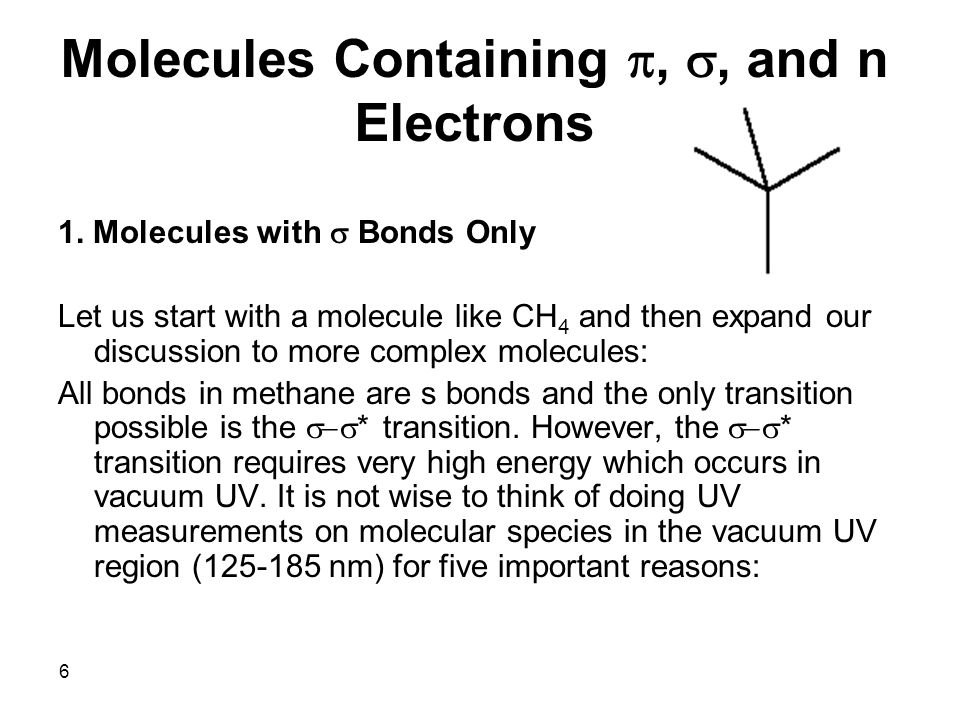 Molecules Containing p, s, and n Electrons
