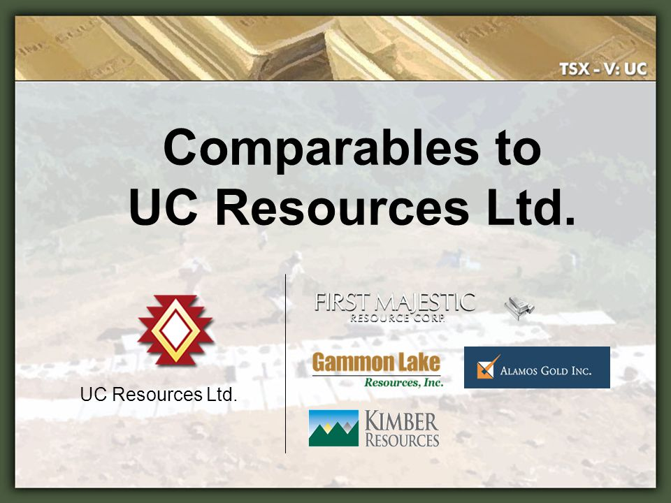 Comparables to UC Resources Ltd.