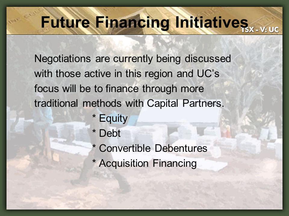 Future Financing Initiatives
