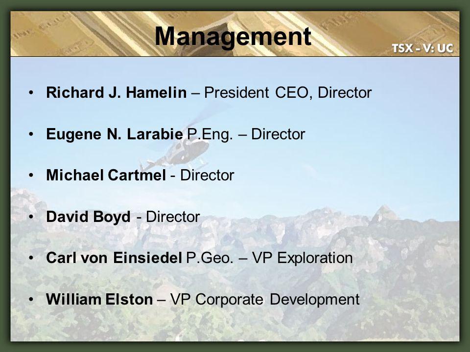 Management Richard J. Hamelin – President CEO, Director