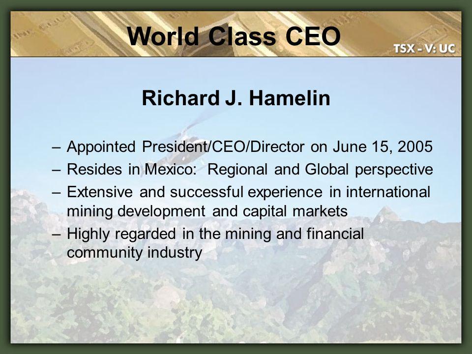 World Class CEO Richard J. Hamelin