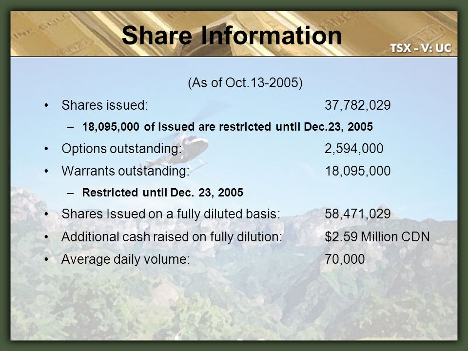 Share Information (As of Oct.13-2005) Shares issued: 37,782,029
