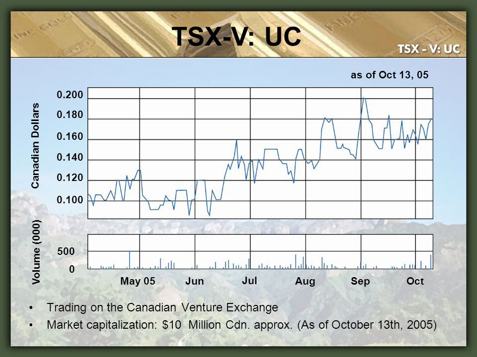 TSX-V: UC Trading on the Canadian Venture Exchange