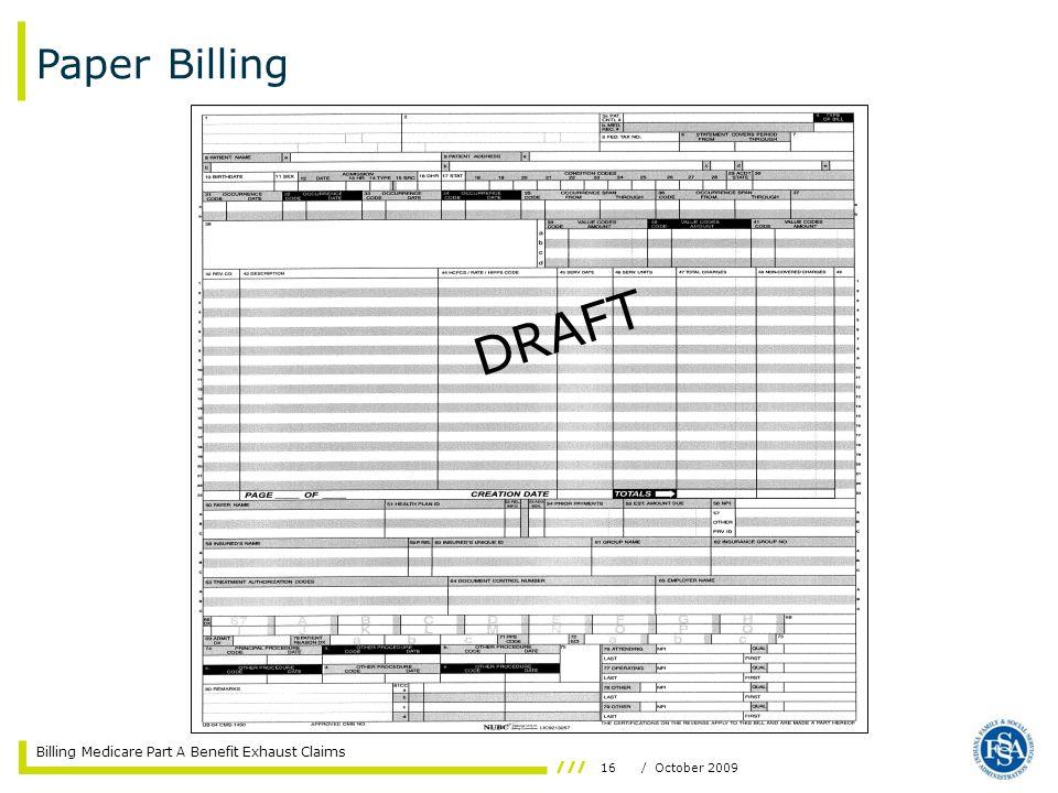 Paper Billing DRAFT