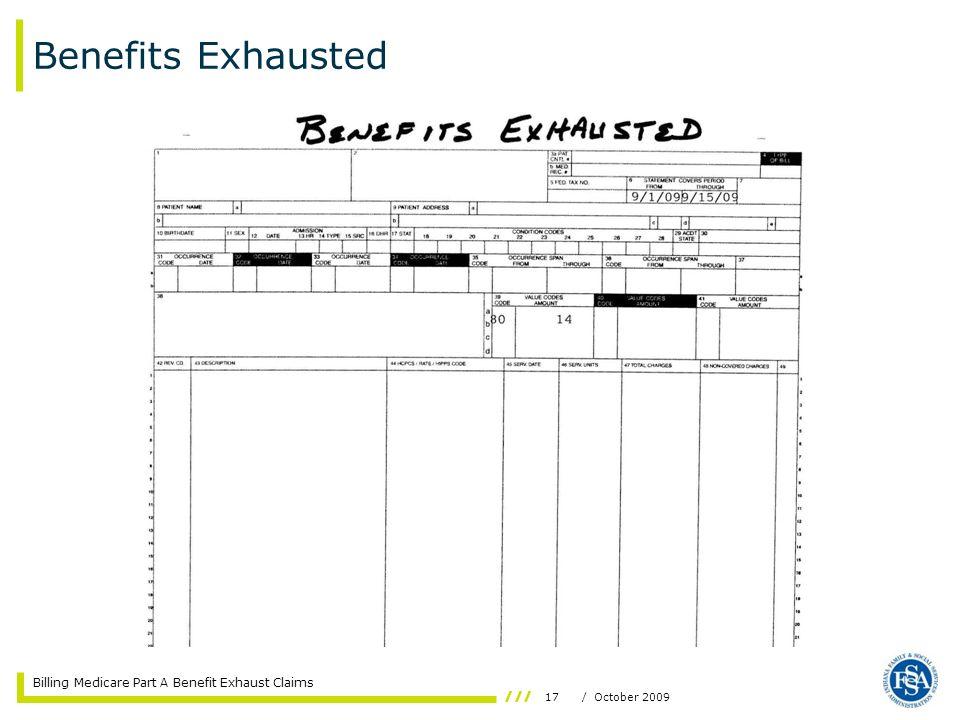 Benefits Exhausted