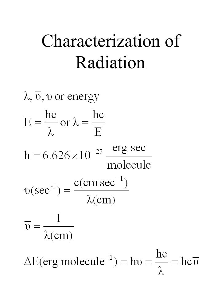 Characterization of Radiation