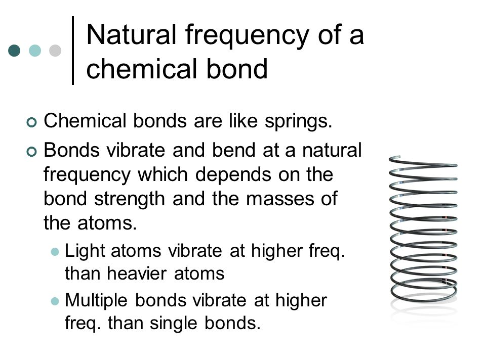 Natural frequency of a chemical bond