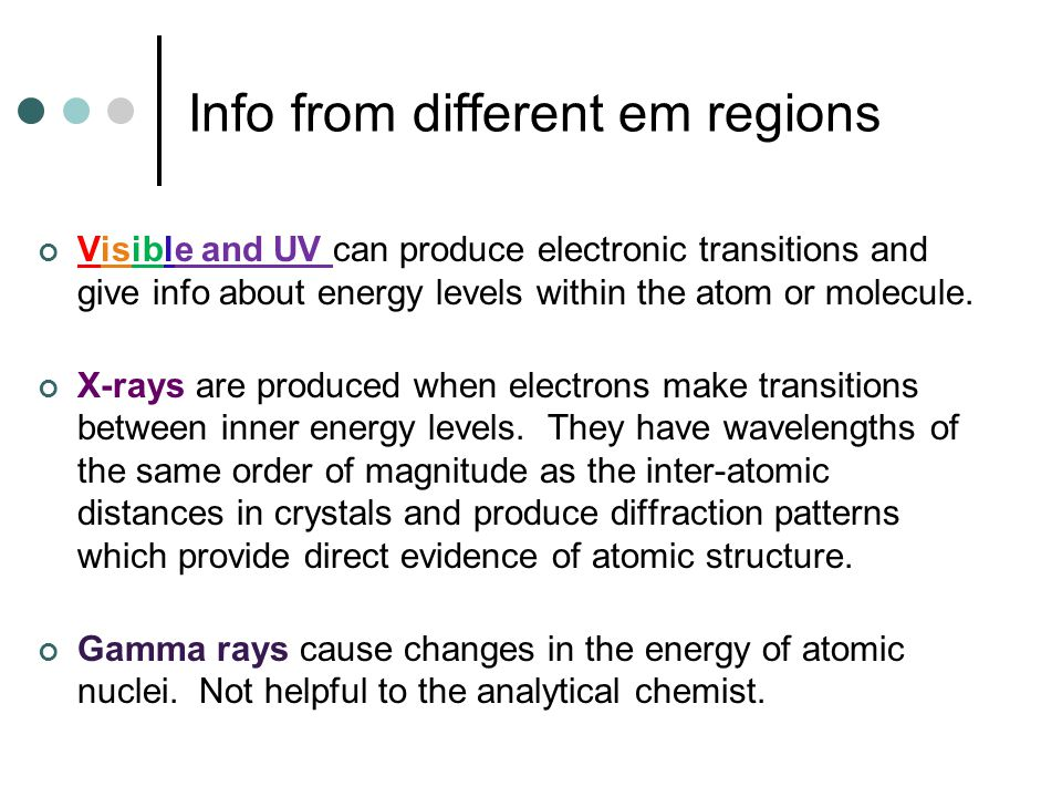 Info from different em regions