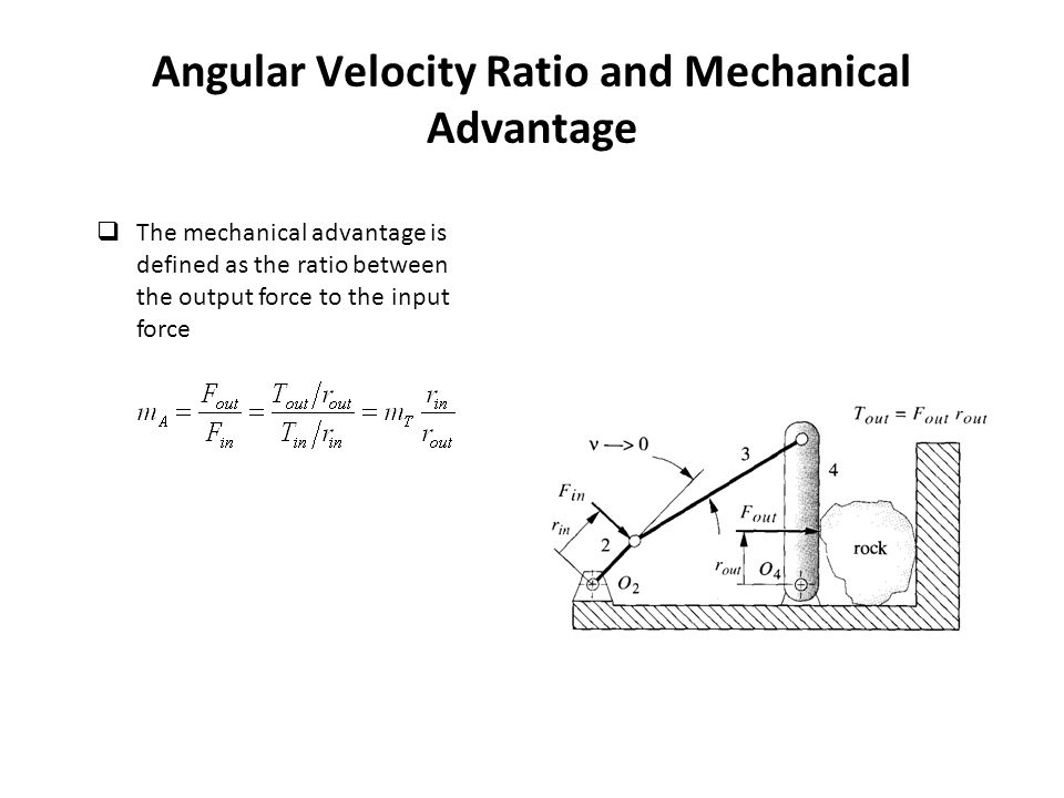 relationship between efficiency mechanical advantage and velocity ratio