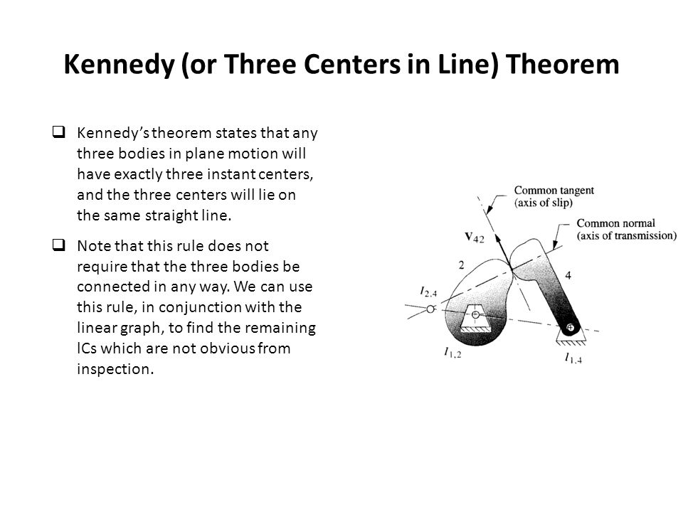 Kennedy (or Three Centers in Line) Theorem