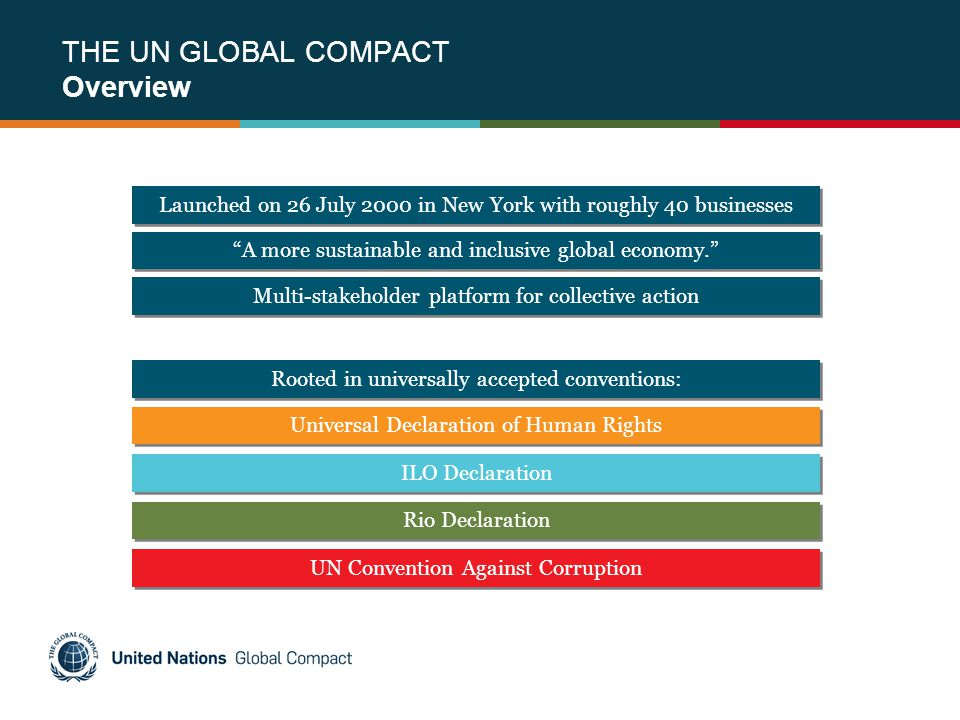 THE UN GLOBAL COMPACT Overview
