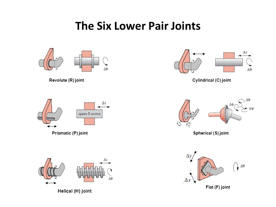 The Six Lower Pair Joints