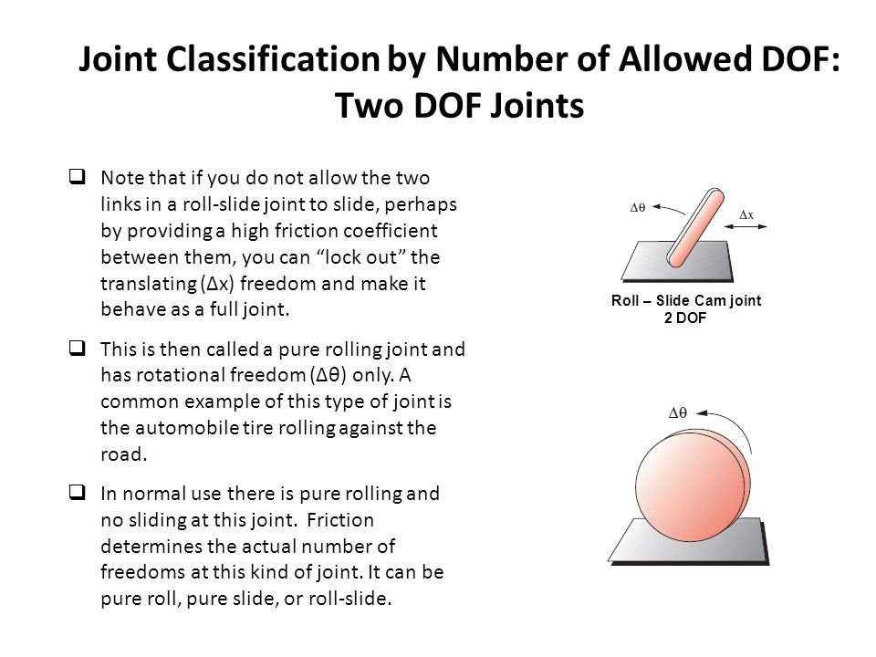 Joint Classification by Number of Allowed DOF: Two DOF Joints