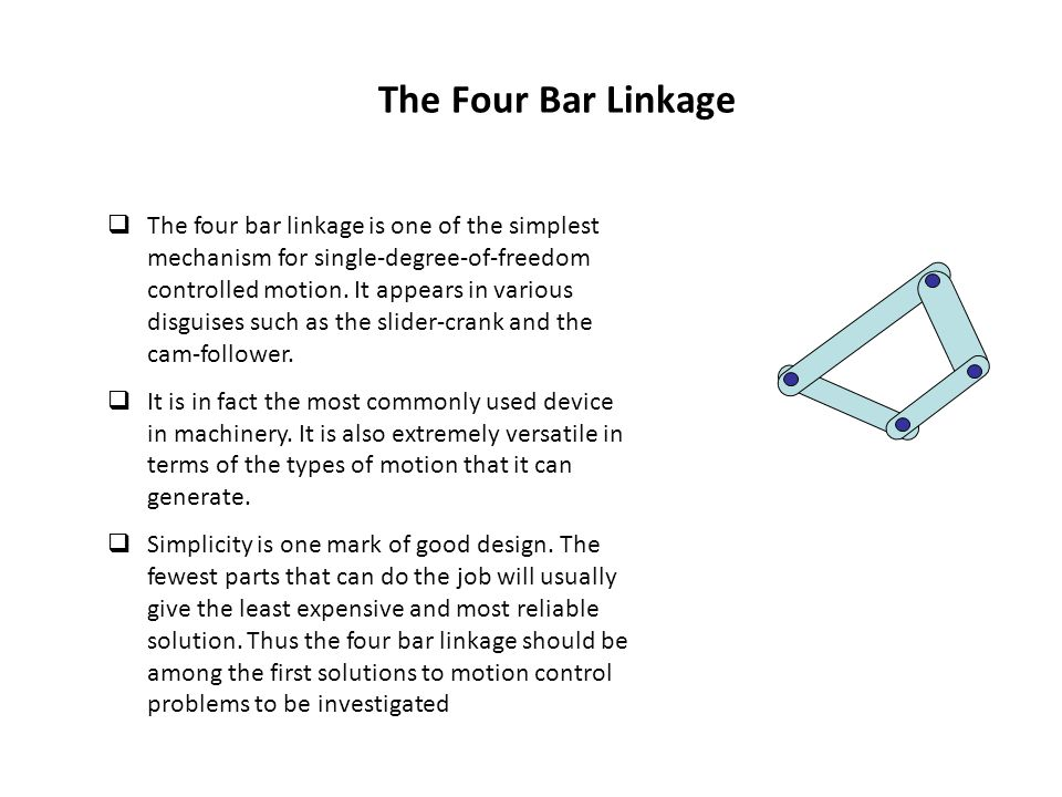 The Four Bar Linkage