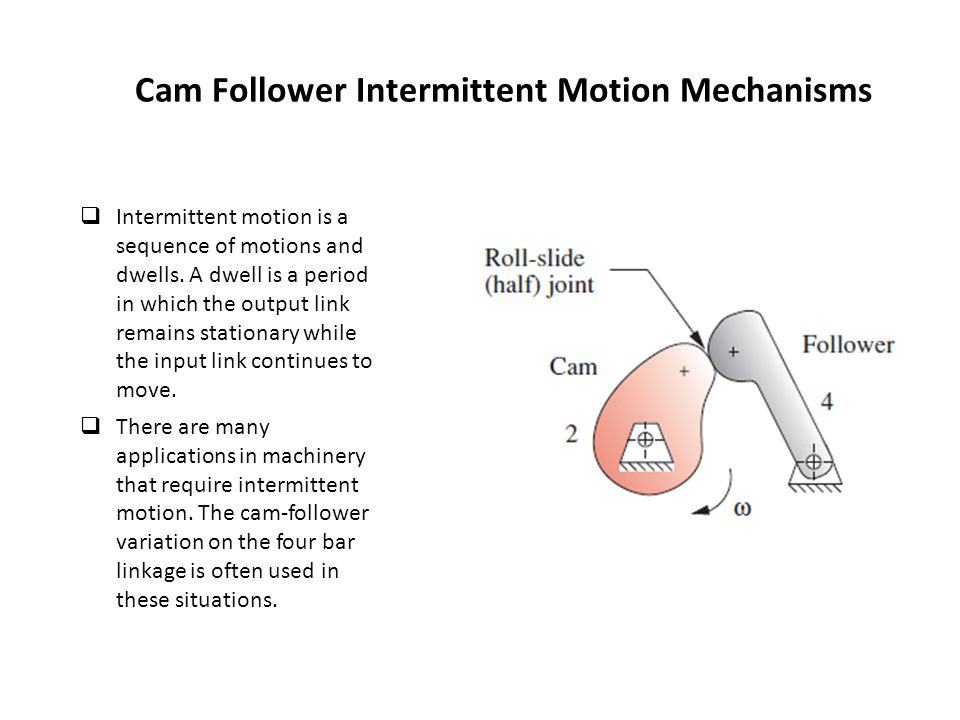 Cam Follower Intermittent Motion Mechanisms