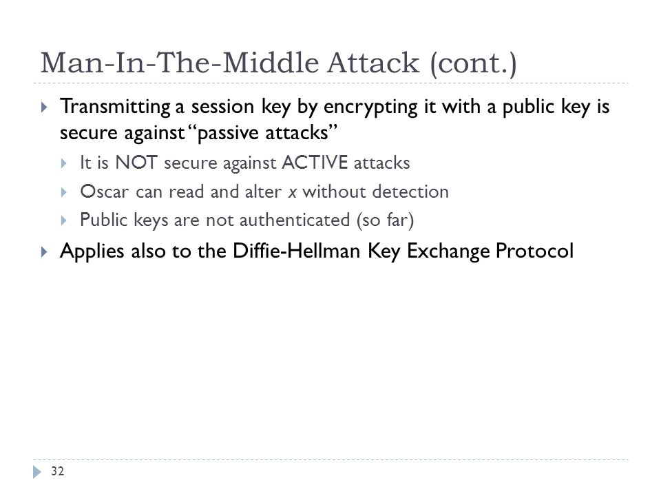 Man-In-The-Middle Attack (cont.)