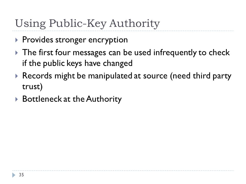 Using Public-Key Authority