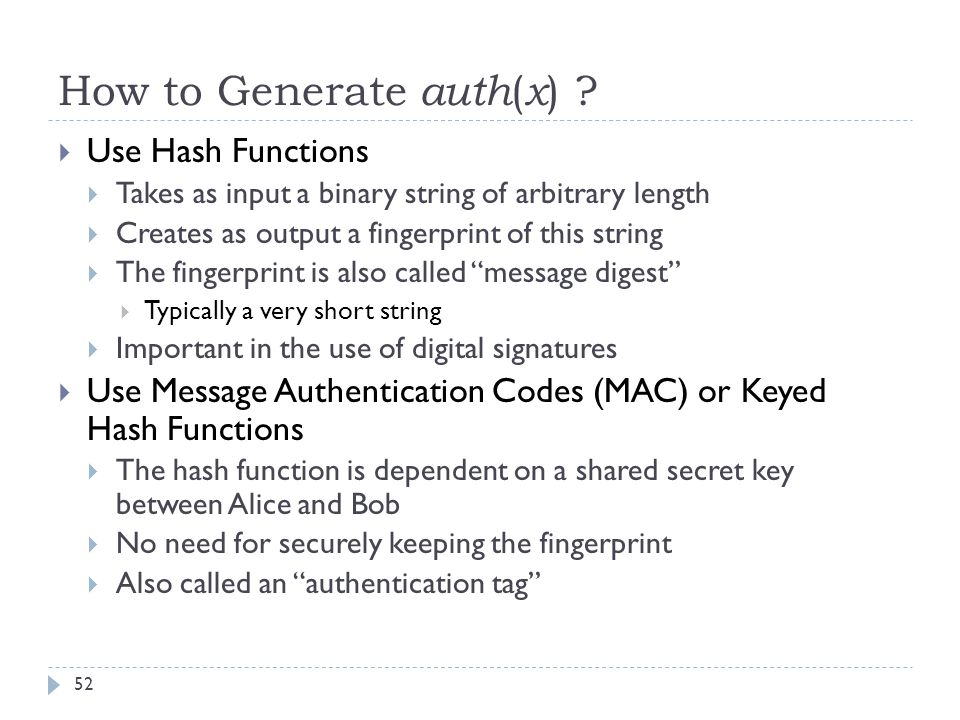 How to Generate auth(x)