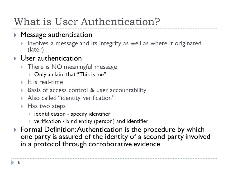 What is User Authentication