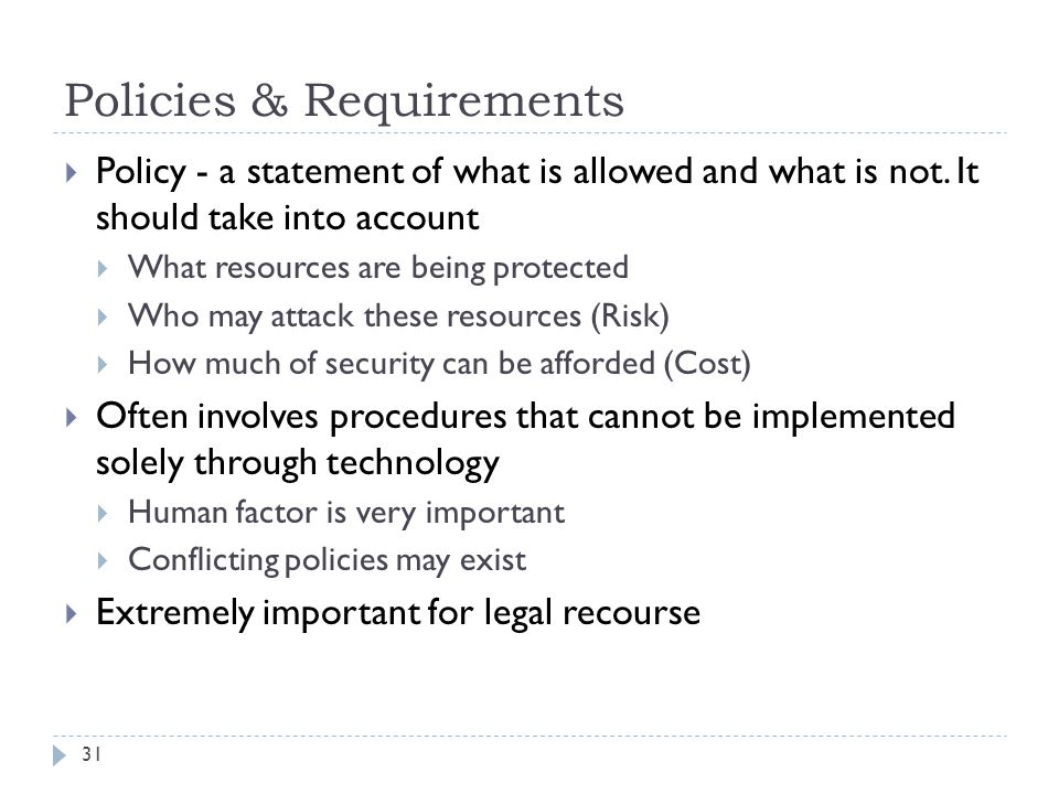 Policies & Requirements