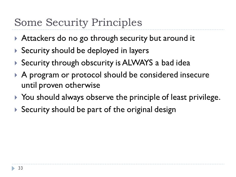 Some Security Principles
