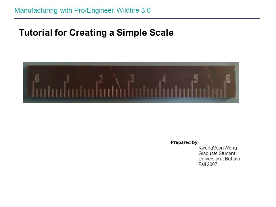 Tutorial for Creating a Simple Scale