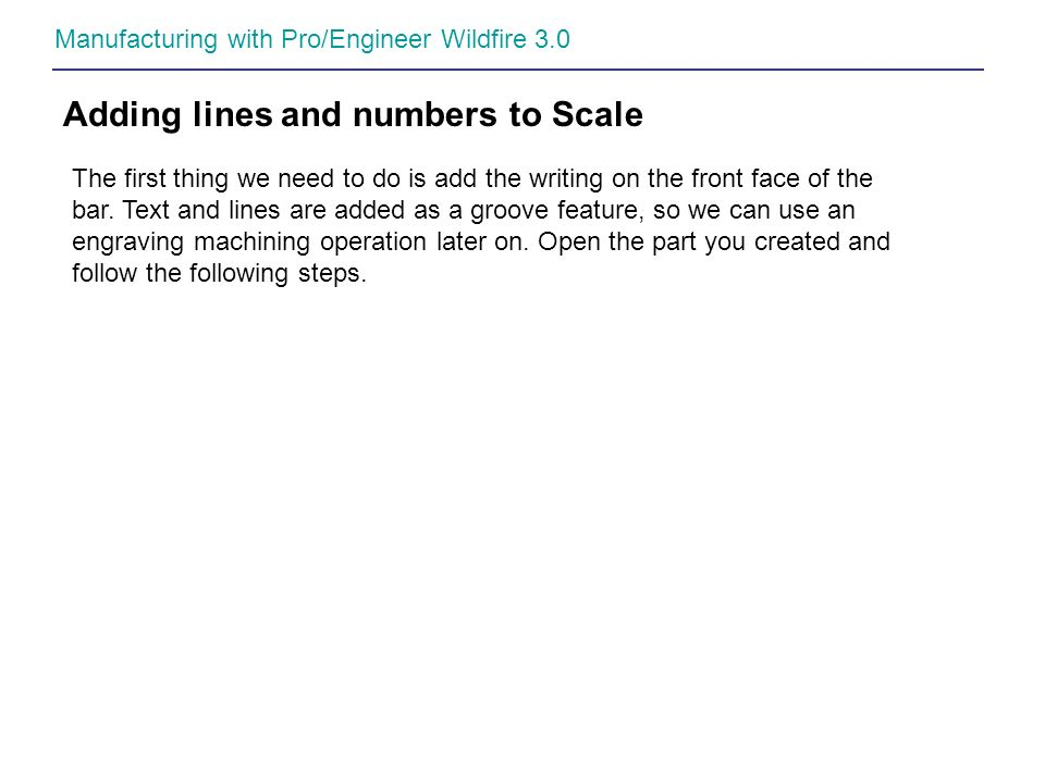 Adding lines and numbers to Scale