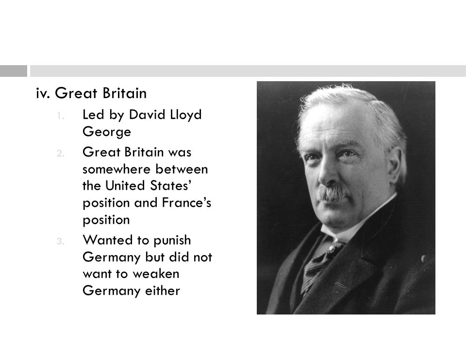 iv. Great Britain Led by David Lloyd George