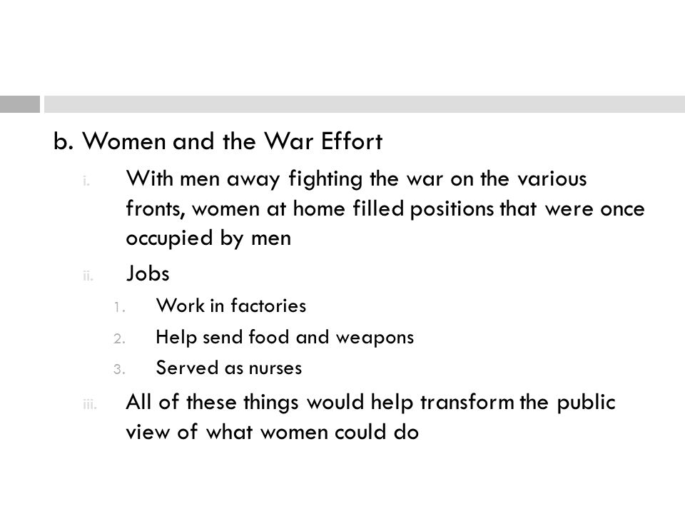 b. Women and the War Effort
