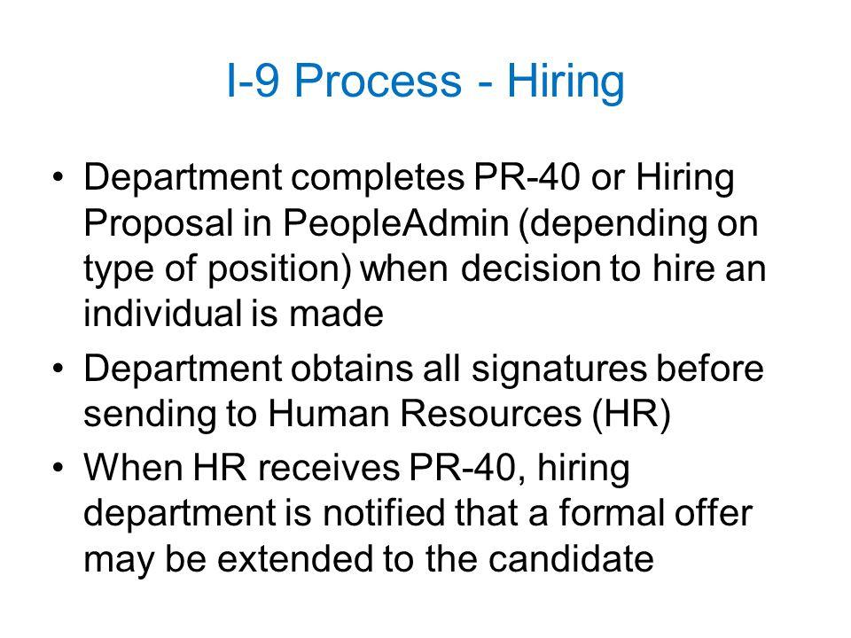 I-9 Process - Hiring