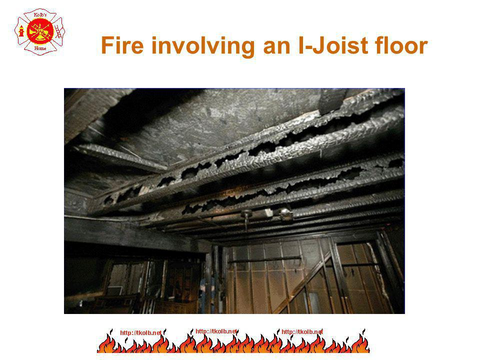 Fire involving an I-Joist floor