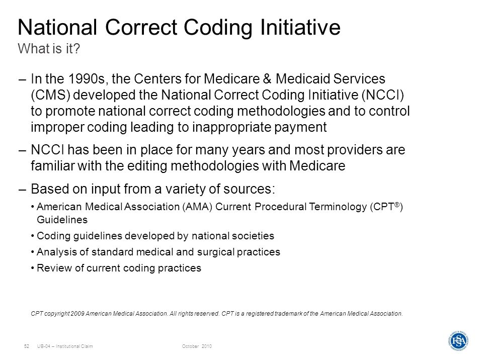 National Correct Coding Initiative